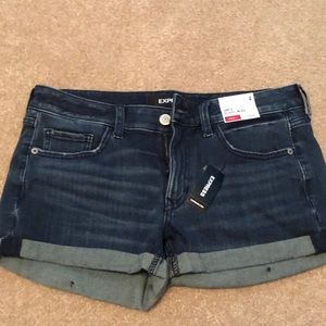 NWT express shortie relaxed low rise shorts